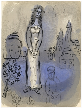 Marc Chagall lithograph Esther