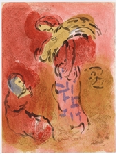 Marc Chagall lithograph Ruth Gleaning