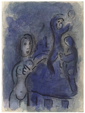 Marc Chagall lithograph Rahab and the Spies of Jericho