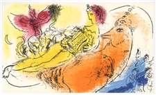 "Marc Chagall ""L'Accordeoniste"" original lithograph"
