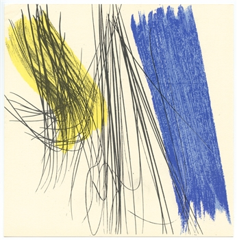 Hans Hartung lithograph Maeght 1971