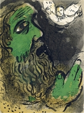 "Marc Chagall ""Job Prays"" original Bible lithograph"