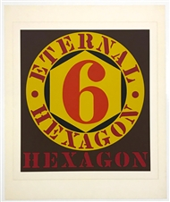 "Robert Indiana ""Eternal Hexagon"" original serigraph"