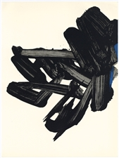 Pierre Soulages original lithograph