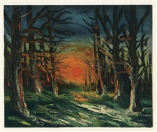 "Maurice de Vlaminck ""The Forest of Senonches"" lithograph"