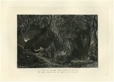 "Samuel Palmer ""The Sepulchre"" Eclogue 8 original etching"