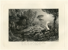 "Samuel Palmer ""Moeris and Galatea"" Eclogue 9 original etching"