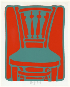 "Clayton Pond ""The Other Chair"" pencil-signed original serigraph"