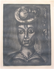 "Georges Rouault etching for Miserere, ""Femme affranchie a quatorze heures chante midi"""