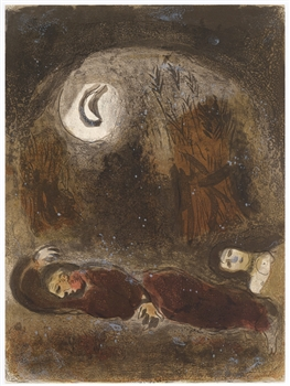 Marc Chagall Ruth at the Feet of Boaz Bible lithograph