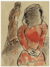"Marc Chagall ""Tamar, Daughter-in-law of Judah"" Bible lithograph"