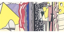 "Roy Lichtenstein ""Study for Greene Street Mural"""