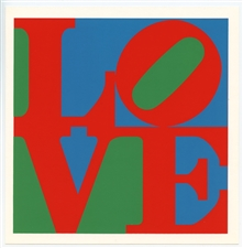 Robert Indiana LOVE silkscreen