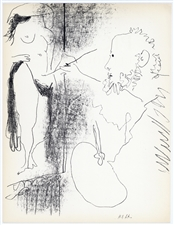 "Pablo Picasso ""The Artist and his Model"" original lithograph"