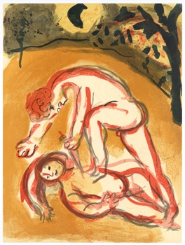"Marc Chagall ""Cain and Abel"""