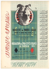 Marcel Duchamp Obligation Monte Carlo original lithograph bond