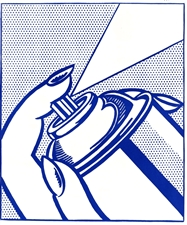 "Roy Lichtenstein ""Spray Can"" original lithograph"