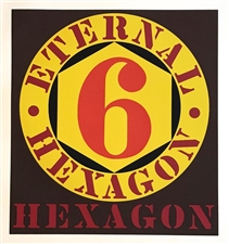 "Robert Indiana ""Eternal Hexagon"" original silkscreen"
