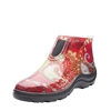 Sloggers Made in the USA Women's Red Paisley Ankle Boots