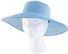 "Women's Braided  ""Spring Brunch"" Sun Hat -Blue UPF 50+"