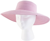 "Women's Braided  ""Spring Brunch"" Sun Hat - Pink  UPF 50+"
