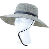 Sloggers Women's Braided Sun Hat with Wind Lanyard UPF 50+