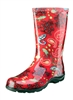 Sloggers Made in the USA Women's Rain Boots Red Paisley Print