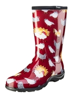 Sloggers Made in the USA  Womens Rain & Garden Boot Chicken Print