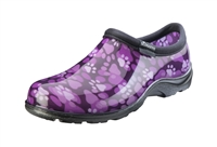 Sloggers Women's Rain & Garden Shoe in Purple Paw Prints