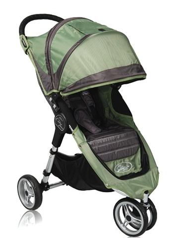 City Mini Single Stroller By Baby Jogger 2011 Green Grey