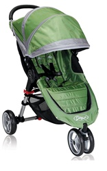 The City Mini Single Stroller in Green / Grey for 2012 - Model BJ11240