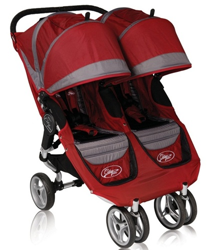 2011 baby jogger city mini double stroller by baby jogger in crimson red grey model 81176. Black Bedroom Furniture Sets. Home Design Ideas
