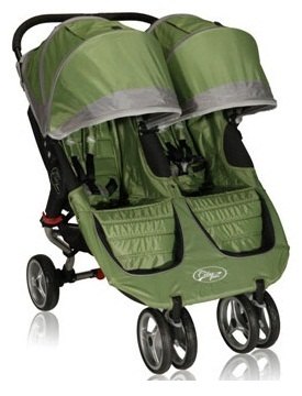 Baby Jogger City Mini Double Stroller 2013 In Green