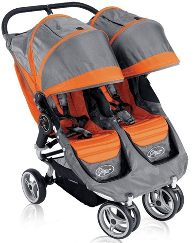 2011 baby jogger city mini double stroller by baby jogger in orange gray 81179. Black Bedroom Furniture Sets. Home Design Ideas