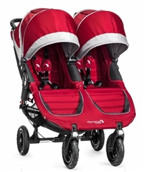 Baby Jogger City Mini GT Double Stroller 2014 in Crimson/Gray - Model BJ16410