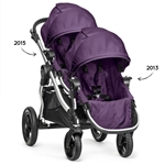 Baby Jogger City Select Double Stroller 2015 Frame + 2013 2nd Seat in Amethyst Frame