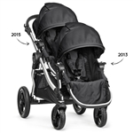 Baby Jogger City Select Double Stroller 2015 Frame + 2013 2nd Seat in Onyx Frame