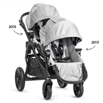 Baby Jogger City Select Double Stroller 2015 Frame + 2013 2nd Seat in Silver/Black Frame