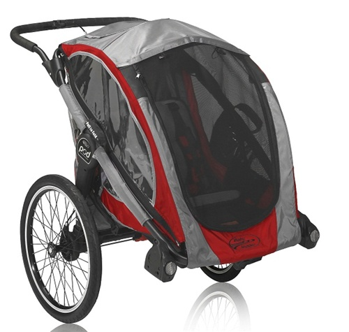 Baby Jogger Pod Customizable Chassis Trailer In Crimson