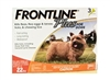 Frontline Plus for Dogs up to 22 lbs, Orange 3 Tubes