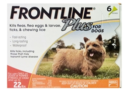 Frontline Plus For Dogs 5-22 lbs, Orange 6 Tubes