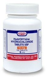 Hydroxyzine HCl 10mg, 500 Tablets