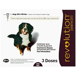 Revolution For Dogs 85.1-130 lbs, 3 Doses