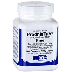 PrednisTab (Prednisolone) 5mg, 1000 Tablets