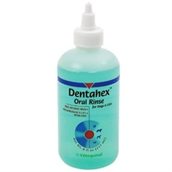 Vet Solutions Dentahex Oral Rinse with Chlorhexidine 0.12% and Zinc, 8 oz.