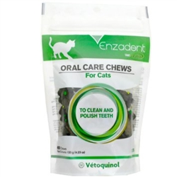 Enzadent Oral Care Chews for Cats, 60 Fish Flavored Chews