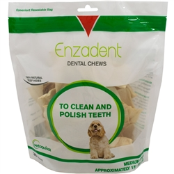 Vet Solutions Enzadent Oral Care Chews for Medium Dogs, 30 Count