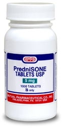 Prednisone 5mg, 1000 Tablets