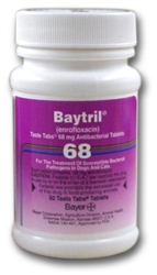 Baytril 68mg Taste Tabs, 50 Tablets