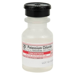 Potassium Chloride 20mEq Concentrate (2 mEq/ml), 10 ml